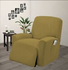 Pique Stretch Form Fit Furniture Chair Recliner Lazy Boy Cover Slipcover - Gold