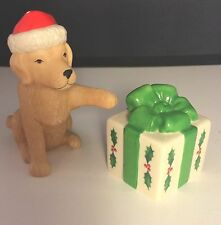 Lenox Holiday Dog and Gift Salt and Pepper Shakers MSRP $40