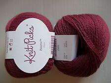 Knit Picks Palette 100% wool yarn, Mauve, lot of 2 (231 yds each)