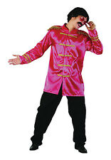 Mens Pink Sergeant Pepper The Beetles Jacket 1960's Music Fancy Dress Costume