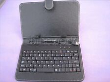 USB 7 inch Leather Stand Case with keyboard  for 7'' Android tablet Black