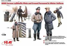 ICM 1/48 WWII Luftwaffe Pilots & Ground Personnel in Winter Uniform # 48086
