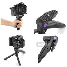 "2in1 1/4"" Portable Folding Mini Flexible Tripod Camera Stand for Canon Nikon NEW"