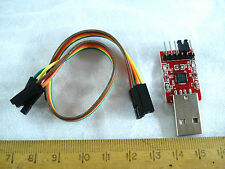 USB to TTL CP2102 Converter UART Free shipping Free Cables and Jumper PL2303 C89