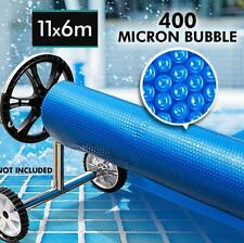 NEW Solar Swimming Pool Cover- 11x6m Outdoor 400 Bubble Roller Blanket Heater