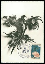 NEUKALEDONIEN MK 1959 AQUARIUM GLAUCUS ANEMONE CARTE MAXIMUM CARD MC CM ay55