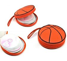 Basketball Shape CD DVD Bag Carry Case Holder Wallets Organizer 24 Disc Storage