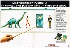 Publicité Advertising 1988 (2 pages) Les Ordinateurs portables Toshiba
