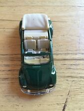 New 1:25  Volkswagen Beetle Cabriolet Hunter Green & Light Tan -