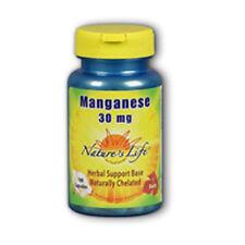 Manganese 100 caps 30 mg by Nature's Life