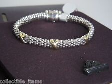 LAGOS CAVIAR ROPE 18K TRIPLE X AND STERLING SILVER BRACELET