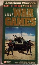 Army War Games (Prev. Viewed VHS) The Dept. of Defense/American Warriors RARE