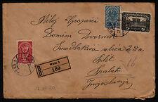 Österreich 1920 AUSLAND Inflation Reko-brief nach SPALATO (Jugoslawien)