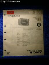 Sony Service Manual WM 3060 Cassette Player (#2103)