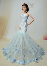 Royalty Mermaid Dress Party Dress/Wedding Clothes/Gown For Barbie Doll F50