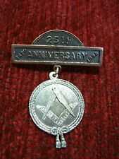 25th ANNIVERSARY 1870-1895 MASONIC PIN - LODGE or ?? - NEAT VINTAGE COLLECTIBLE
