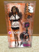 Barbie Top Model Muse Nikki Brunette Orange Hair Wear African American AA Doll