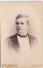 ANTIQUE CABINET PHOTO.SMART YOUNG MAN . MONTE VIDEO. BEUNOS AIRES STUDIO