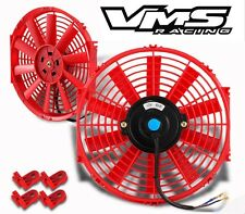 """RED 14"""" SLIM HIGH PERFORMANCE RADIATOR FAN AND MOUNTING KIT"""