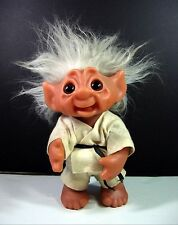 "Thomas Dam KARATE BOY TROLL DOLL #604 Vintage  9"" Denmark 1977 1985 Martial Arts"