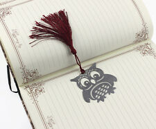 Lovely Owl Alloy Bookmarks Note Pad Funny Book Marker Memo Stationery Gifts Hot