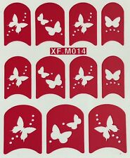 Nail Art Decal Stencil Stickers Butterflies XF.M014