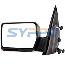 04-07 Ford F150 Pickup Manual Side View Mirrors Black Left Driver Side