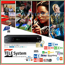 TIVUSAT TELESYSTEM ts-9011 HD decoder e le smartcard * -- guarda TV ITALIANO