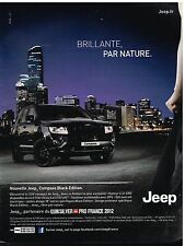 Publicité Advertising 2012 Nouvelle Jeep Compass Black Edition