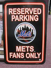MLB New York Mets Fan Parking Only Sign