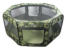 "62"" Large Portable Puppy Pet Dog Soft Tent Playpen Folding Crate Pen New - Camo"