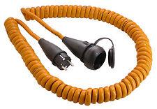 AS Schwabe Baustellen Spiralkabel orange Verlängerungskabel 5m H07BQ-F 3G1,5 Neu