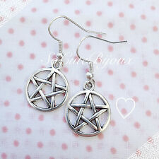 Orecchini Stella di David Scudo Cabala Earrings Cute Vintage Hipster Indie Star