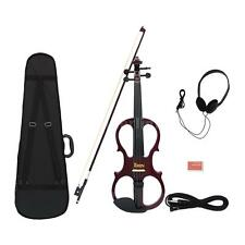 4/4 Maple Electric Violin Fiddle with Ebony Fittings Cable Headphone Case V7O8