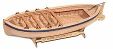 "Wooden boat model kit ""Eight oared boat 1824"" 1/72 Falkonet F0208 + resin figure"