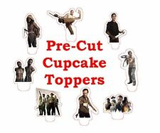 x24 walking dead EDIBLE wafer paper stand up cup cake toppers PRE-CUT
