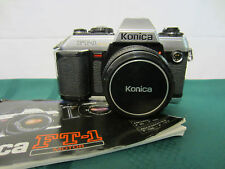 Konica FT-1 MOTOR 35mm SLR Film Camera w/ HEXANON 50mm f/1.8 LENS + MANUAL .