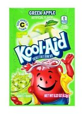 10 Packs Kool-Aid GREEN APPLE Unsweetened Drink Mix Packets