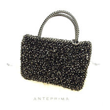 Auth Antepurima ANTEPRIMA Pouch Mini Handbag Black wire Sale used A889