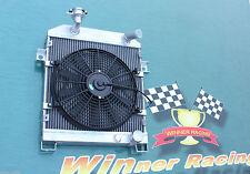 aluminum alloy radiator&Fan JAGUAR MK1/MK2 MK I/II S-TYPE SALOON M/T 1955-1967