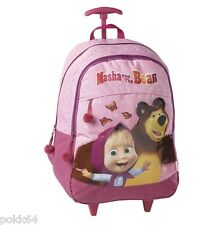 Macha et l'Ours cartable à roulettes trolley L sac à dos macha bear 45 cm 008646