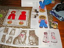 Cloth Doll & Stuffed Animal Patterns (5):Red Riding Hood/Cat with Kittens/AA Boy