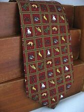 New Frontier Mens Silk Neck Tie Red Western Rodeo Cowboy Theme 101