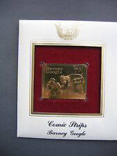 1995 Comic Strips Barney Google 22kt Gold GOLDEN FDC replica Cover FDC STAMP