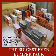 """Shipping Containers Card Kits N Gauge Model """"THE BIGGEST BUMPER PACK EVER"""" x 16"""