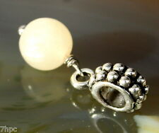 Golden Calcite Dangling Ball Crystal Gemstone Charm Bead Reiki Blessed Gem Stone