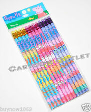 12 pc PEPPA PIG PENCILS w/erasers FOR PARTY CANDY BAGS GIFTS PARTY FAVORS GIFTS
