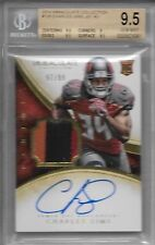 2014 Immaculate Charles Sims On Card Auto 3 Color Patch Rc 97/99 BGS 9.5 Auto 10