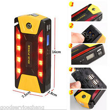 82800mAh Portable Car Jump Starter Pack Booster Battery Charger 4 USB Power Bank