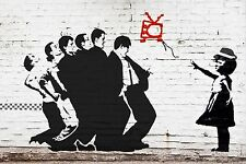 BANKSY MADNESS ONE STEP BEYOND STENCIL POP ART SKA STREET GRAFFITI PRINT UK 3D